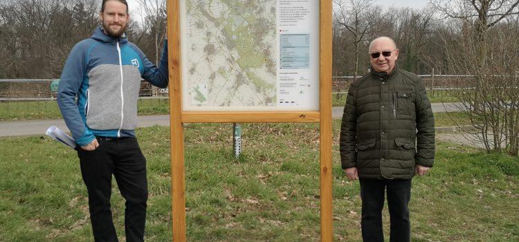 UWG/Forum initiiert Aufstellung einer Wandertafel – Bessere Orientierung in der Ville